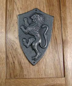 Rampant Regal Lion Plaque - Unfinished