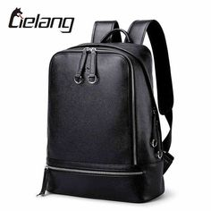 Buy now LIELANG New Hot Men Backpacks Genuine Leather Men's Travel Bag Fashion Man Backpack Casual Business Backpack for 14 Inch Laptop just only $68.86 with free shipping worldwide  #backpacksformen Plese click on picture to see our special price for you