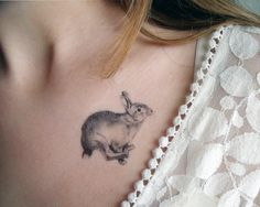 Temporary Tattoos Rabbit via Etsy.