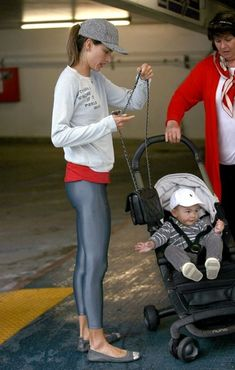 Alessandra Ambrosio - Alessandra Ambrosio Works Out in Santa Monica. I think she qualifies as a hot mom.