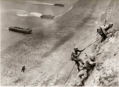The US 2nd Ranger Battalion (Force A) at Pointe du Hoc, D-Day, 1944.