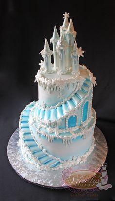 Frozen Homemade Elsa Ice Castle Cake Frozen Party In