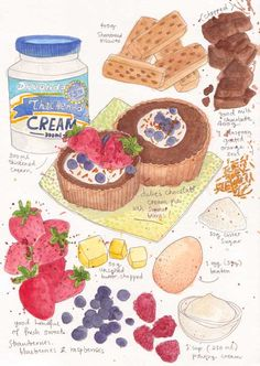 Dawn Tan #illustration #food #watercolour