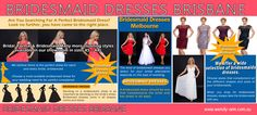 Try this site https://pinterest.com/DressesSydney/ for more information on Bridesmaid Dresses Brisbane. With the different alternatives as well as shops offered for special Bridesmaid Dresses, it is now fun as well as exciting to look for your bridesmaid dress. The reason behind the popularity of online wedding celebration buying shops is that although they offer elegant dresses in a range of designs as well as colors, yet they are quite affordable when it involves price connected to them.