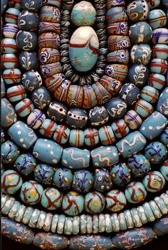Venetian Fancies ~ Blue   One of the photos from Jack DeWitt beautiful series of old bead. Many of the photographs are beads and bead sample cards from the collection of John and Ruth Picard and can be seen at their bead museum in Carmel Valley California