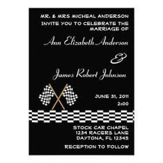 >>>Cheap Price Guarantee          Checkered Flag Auto Racing Wedding Invitation           Checkered Flag Auto Racing Wedding Invitation so please read the important details before your purchasing anyway here is the best buyThis Deals          Checkered Flag Auto Racing Wedding Invitation Re...Cleck Hot Deals >>> http://www.zazzle.com/checkered_flag_auto_racing_wedding_invitation-161880888635408575?rf=238627982471231924&zbar=1&tc=terrest
