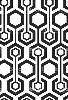 Seamless hexagon pattern royalty-free stock vector art