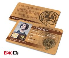 """The Hunger Games Inspired Panem District 3 """"Wiress"""" Identification Card"""