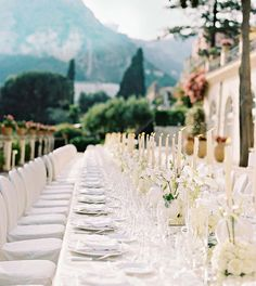 The June weather in Taormina was spectacular, so the 60 guests dined outdoors on the terrace at the Belmond Grand Hotel Timeo. Airbnb Wedding, Sicily Wedding, Candle Wedding Centerpieces, Wedding Decorations, Centerpiece Ideas, Table Decorations, Martha Stewart Weddings, Floral Wedding, Wedding Flowers
