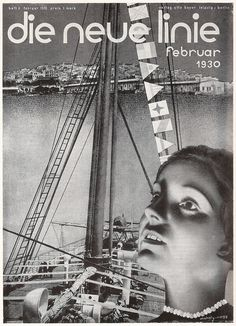 cMag168 - Die Neue Linie Magazine cover by László Moholy Nagy / February 1930