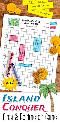 Arr, Me Hearties! Island Conquer Gets a Pirate Makeover! Arr, me hearties! This free Island Conquer Area and Perimeter Math Game from Laura Candler just got a pirate makeover! Math Resources, Math Activities, Math Games, Area And Perimeter Games, Maths Area, Math Measurement, Fourth Grade Math, Homeschool Math, Homeschooling