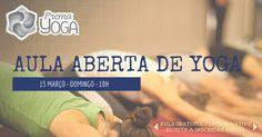 E começar este Domingo que vem, dia 15, com uma saudável aula de Yoga? Aula gratuita ou por donativo, a cargo dos professores Ana Pereira e Mário Moreira.
