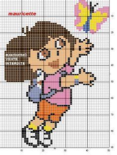 Artes e bordados da Sol: Gráficos da Dora Aventureira