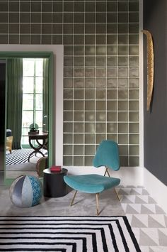 Living by Toninho Noronha, Casa Cor SP | Maxime Lounge Chair by Jonathan Adler.