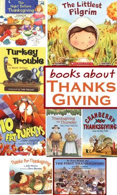 Great list of 8 books for children about Thanksgiving.