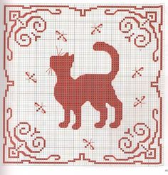 Cross-stitch Kitty ... no color chart available, just use the pattern chart as your color guide.. annadrianna - «Gatos: punto de cruz» en Yandex
