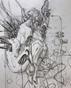 Art inspiration and artwork by Eleeza (Eliza Ivanova) # Eleeza Cyberpunk Kunst, Sci Fi Kunst, Comic Kunst, Comic Art, Fantasy Kunst, Fantasy Art, Manga Art, Anime Art, Art Sketches