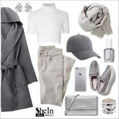 50 Shades by piaspieler on Polyvore featuring Glamorous, WithChic, Wrap, Keds, MICHAEL Michael Kors, Georgini, Robert Lee Morris, Brunello Cucinelli and Essie
