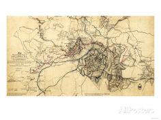 Atlanta Campaign - Civil War Panoramic Map Prints at AllPosters.com