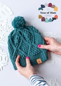 It's a new year and about time for a new year-long-knit-a-long pattern series from Kelbourne Woolens! What's better than a free hat pattern? Twelve free hat patterns, of course! This year we're… Knitting Patterns Free, Knit Patterns, Free Knitting, Free Pattern, Pattern Design, Knitting Projects, Crochet Projects, Knitted Hats, Crochet Hats