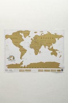 Scratch Map: världskarta att skrapa var man varit - Urban Outfitters