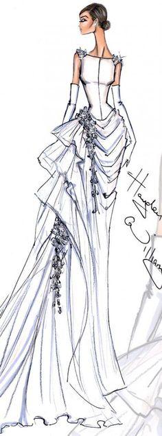 Trendy Fashion Sketches Dresses Illustrations Hayden Williams Ideas Source by ilonabraica sketches Dress Illustration, Fashion Illustration Sketches, Fashion Sketches, Drawing Sketches, Fashion Drawings, Drawing Ideas, Trendy Fashion, Fashion Art, Fashion Models