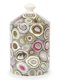 Fornasetti Profumi Vela aromatizada 'Agata' com suporte de cerâmica