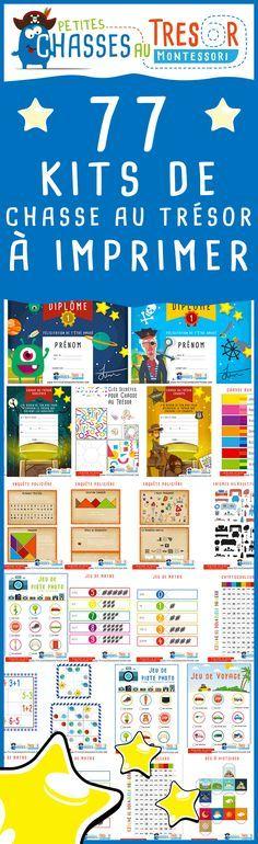 Kits chasse au trésor pour enfants à imprimer gratuitement. Des activités pour enfants à imprimer. Games For Kids, Diy For Kids, Activities For Kids, Crafts For Kids, Abc Games, Birthday Games, Kids Corner, Babysitting, Montessori