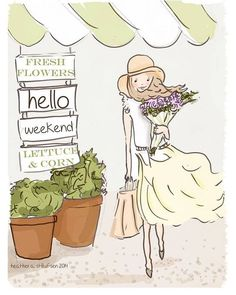 The Heather Stillufsen Collection from Rose Hill Designs Hello Weekend, Happy Weekend, Weekend Vibes, Girly Quotes, Cute Quotes, Rose Hill Designs, Notting Hill Quotes, Illustrations, Illustration Art