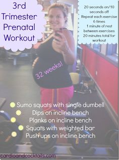 Third trimester prenatal workout for pregnancy!