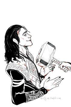Loki i Thor Loki Art, Thor X Loki, Marvel Dc Comics, Marvel Avengers, Loki Drawing, Marvel Drawings, Spiderman, Marvel Fan Art, Tom Hiddleston Loki