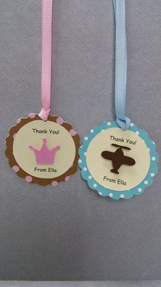 Handmade Crown/ Plane Polka Dot Thank You Tag Girl Birthday Cards, Thank You Tags, Plane, Polka Dots, Crown, Unique Jewelry, Handmade Gifts, Etsy, Kid Craft Gifts