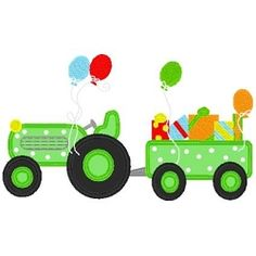 Birthday Tractor Applique - 3 Sizes! | Transportation-other | Machine Embroidery Designs | SWAKembroidery.com Band to Bow
