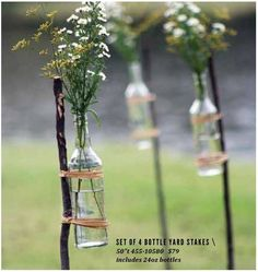 #ClippedOnIssuu from At West End Summer Camp 2014 single bottle yard stake . . . these would be so easy to make.
