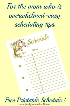 Feeling Overwhelmed? Here is a Free Printable Schedule to Help You!