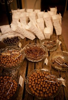 Chocolate Dessert Bar. Dessert bars and candy stations have become a popular part of weddings. This all-chocolate option lets guests package up their favorite treats to enjoy on the way home from the reception.