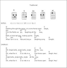 jingle bells sheet music ukulele - Google Search