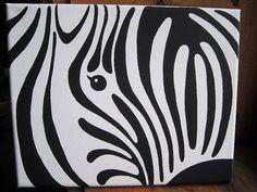 Zebra print on canvas