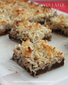 Seven Layer magic Bars-the bar that started all the magic!..Every Christmas my grandmother always made these :)