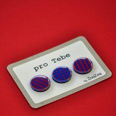 """Červenomodré magnetky na kartičce """"pro Tebe"""""""