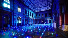 3000 LED LIGHTS TWINKLING UNDER THE GLASS WINDOW OF THE NATIONAL SCHOOL OF FINE ARTS IN PARIS