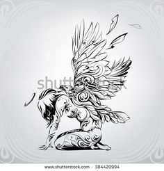 Angel with eagle wings
