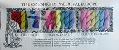 The 18 skein Master Collection contains colors produced thru the whole dye process: Deeply saturated 'First Bath' colours. Bright and clear 'Second Bath' colours. Pale and delicate 'Exhaust' colours. Medieval Embroidery, Types Of Embroidery, Hand Embroidery Designs, Embroidery Patterns, Embroidery Supplies, Medieval Clothing, Historical Clothing, 17th Century Clothing, Medieval Crafts