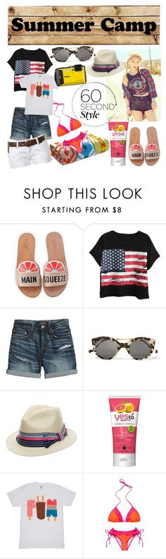 """summer camp"" by birdiemacpac ❤ liked on Polyvore featuring Kate Spade, Chicnova Fashion, Canvas by Lands' End, Illesteva, Sensi Studio, Hot Anatomy, Stolen, summercamp and 60secondstyle"