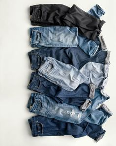 What we do at J.Crew: stretch jeans that don't look stretchy. Thanks to top-quality Japanese fabric we source from one of that country's original denim mills, they look just like all our famous jeans. Which means now you can wear slim denim and eat doughnuts.