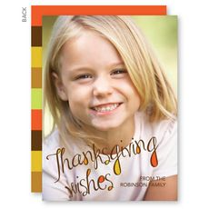Thanksgiving Wishes Thanksgiving Photo Cards