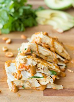 Thai Quesadillas with Grilled Chicken