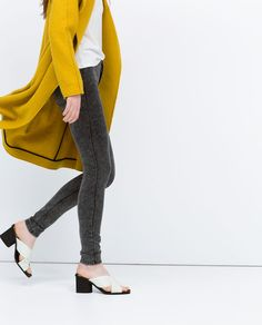 HIGH WAISTED JEGGINGS from Zara