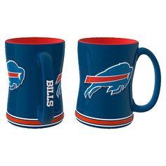 NFL Boelter Brands 2 Pack Relief Mug 15 oz - Buffalo Bills