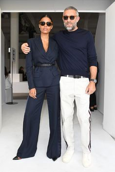 The 10 Best-Dressed Men of the Week WHAT Roberto Cavalli WHERE with Tina Kunakey at the Roberto Cavalli show during Milan Fashion Week WHEN September Fashion Mode, Look Fashion, Fashion Trends, Milan Fashion, Fashion For Men, Street Fashion, Womens Fashion, Fashion Hats, Fashion Styles